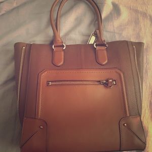 aldo tote brown bag- only worn once